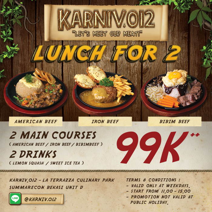 Lunch For 2 Only 99k